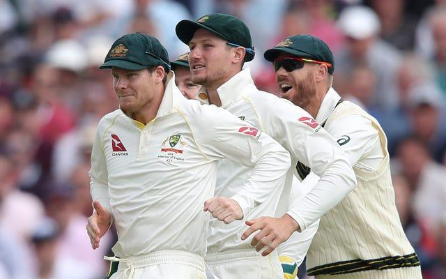 Steve Smith (left), Bancroft (middle) and David Warner (right) were all banned for their part in the plot.