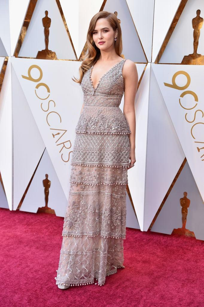 <p>Zoey Deutch attends the 90th Academy Awards in Hollywood, Calif., March 4, 2018. (Photo: Getty Images) </p>