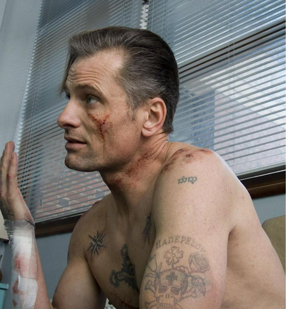 Viggo Mortensen on the set of Eastern Promises (Credit: Focus Features)