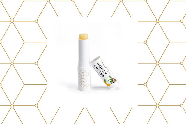 "<p>It's an all-natural pick that nourishes with good-for-your-lips ingredients such as honey, beeswax, cupuaçu butter, and Echinacea GreenEnvy™. $10, <a href=""https://www.sephora.com/product/honey-butter-beeswax-lip-balm-P428416?skuId=2042794&om_mmc=ppc-GG_381463959_27499864719_pla-178156570119_2042794_97594831959_9058761_c&country_switch=us&lang=en&gclid=EAIaIQobChMIxqfB3-rc2AIVwYuzCh0dDwr9EAYYASABEgJADPD_BwE&gclsrc=aw.ds"" rel=""nofollow noopener"" target=""_blank"" data-ylk=""slk:sephora.com"" class=""link rapid-noclick-resp"">sephora.com</a> (Photo: Farmacy/Getty) </p>"