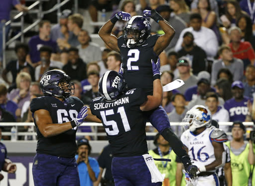 Were you one of the 1.2 million who watched TCU and Kansas last week? (AP Photo/Ron Jenkins, File)