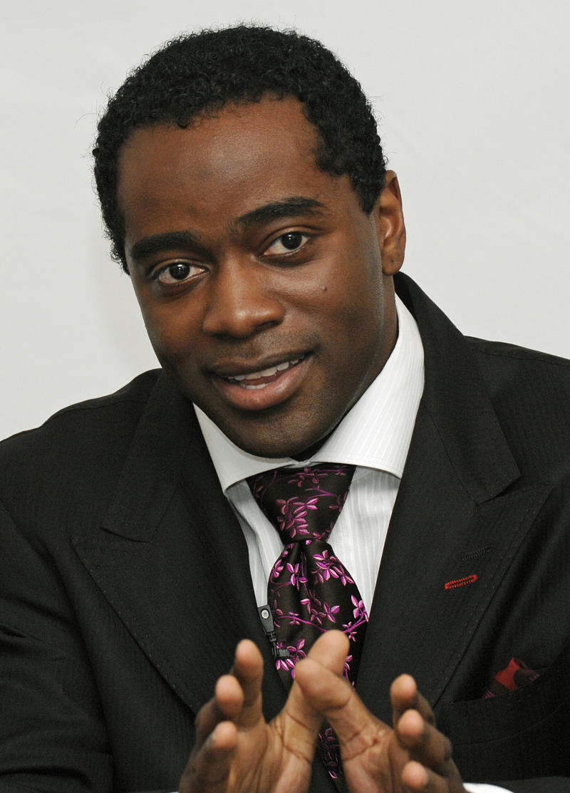 FILE - This July 26, 2007 file photo shows Curtis Martin, the New York Jets all-time leading rusher, announcing his retirement during a news conference in New York. Martin is among 26 semifinalists for the Pro Football Hall of Fame's class of 2011. (AP Photo/ Louis Lanzano)