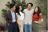 """<p><a href=""""https://www.oprahdaily.com/entertainment/tv-movies/a22222916/constance-wu-interview/"""" rel=""""nofollow noopener"""" target=""""_blank"""" data-ylk=""""slk:Constance Wu"""" class=""""link rapid-noclick-resp"""">Constance Wu</a> brings the same charm in this ABC comedy that she delivers in the rom-com <em><a href=""""https://www.amazon.com/Crazy-Rich-Asians-Constance-Wu/dp/B07JWGJ49W/?tag=syn-yahoo-20&ascsubtag=%5Bartid%7C10063.g.37608731%5Bsrc%7Cyahoo-us"""" rel=""""nofollow noopener"""" target=""""_blank"""" data-ylk=""""slk:Crazy Rich Asians"""" class=""""link rapid-noclick-resp"""">Crazy Rich Asians</a></em>. Based on chef Eddie Huang's <a href=""""https://www.amazon.com/Fresh-Off-Boat-Eddie-Huang/dp/0812983351/?tag=syn-yahoo-20&ascsubtag=%5Bartid%7C10063.g.37608731%5Bsrc%7Cyahoo-us"""" rel=""""nofollow noopener"""" target=""""_blank"""" data-ylk=""""slk:eponymous memoir"""" class=""""link rapid-noclick-resp"""">eponymous memoir</a>, the show offers a fun, humorous glimpse into the day-to-day life of a Chinese immigrant family and their hip-hop loving son, Eddie. It's particularly quote-worthy for people of color. </p><p><a class=""""link rapid-noclick-resp"""" href=""""https://www.amazon.com/Fresh-Off-the-RV/dp/B07H7Q7NJG/?tag=syn-yahoo-20&ascsubtag=%5Bartid%7C10063.g.37608731%5Bsrc%7Cyahoo-us"""" rel=""""nofollow noopener"""" target=""""_blank"""" data-ylk=""""slk:Watch Now"""">Watch Now</a></p>"""