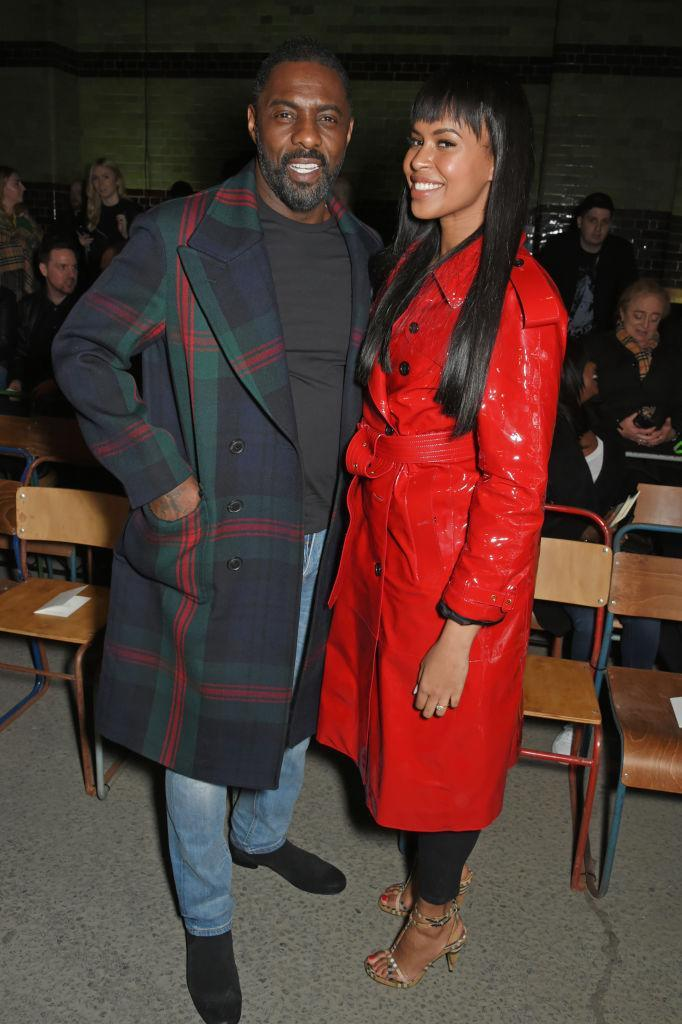 <p>Idris Elba wears Burberry to the Burberry fashion show during London Fashion Week at the Dimco Buildings on Feb. 17, 2018, in London. (Photo: Getty Images) </p>