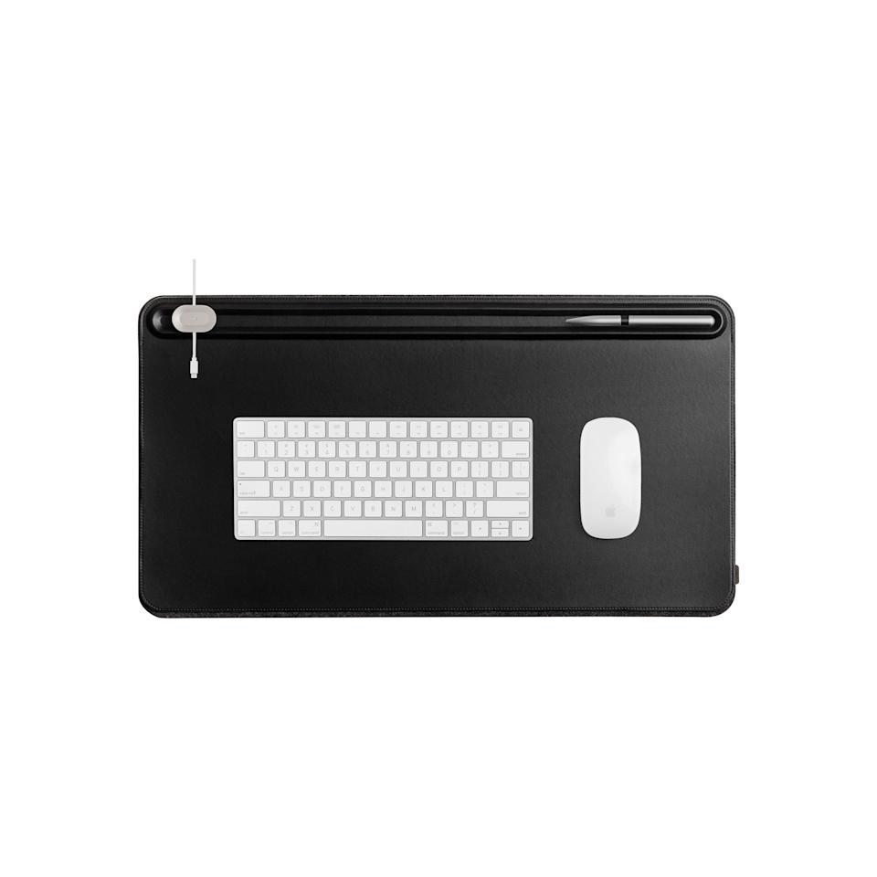 """<p><strong>OrbitKey</strong></p><p>huckberry.com</p><p><a href=""""https://go.redirectingat.com?id=74968X1596630&url=https%3A%2F%2Fhuckberry.com%2Fstore%2Forbitkey%2Fcategory%2Fp%2F68142-desk-mat-medium&sref=https%3A%2F%2Fwww.menshealth.com%2Fstyle%2Fg37092193%2Fhuckberry-summer-sale-2021%2F"""" rel=""""nofollow noopener"""" target=""""_blank"""" data-ylk=""""slk:BUY IT HERE"""" class=""""link rapid-noclick-resp"""">BUY IT HERE</a></p><p><del>$65<br></del><strong>$45 (38% OFF)</strong></p><p>Perhaps you're ready to make that home office your regular office. In which case, this mat will keep your daily items neat and tidy.</p>"""