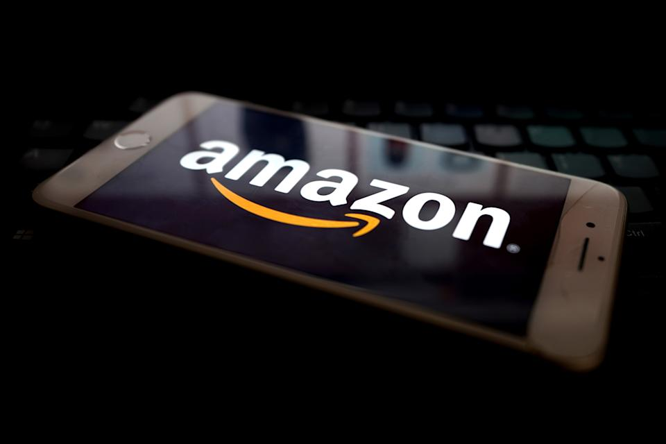 LONDON, ENGLAND - JANUARY  11: In this photo illustration, the Amazon app is seen on a mobile phone on January 11, 2021 in London, United Kingdom. (Photo by Edward Smith/Getty Images)