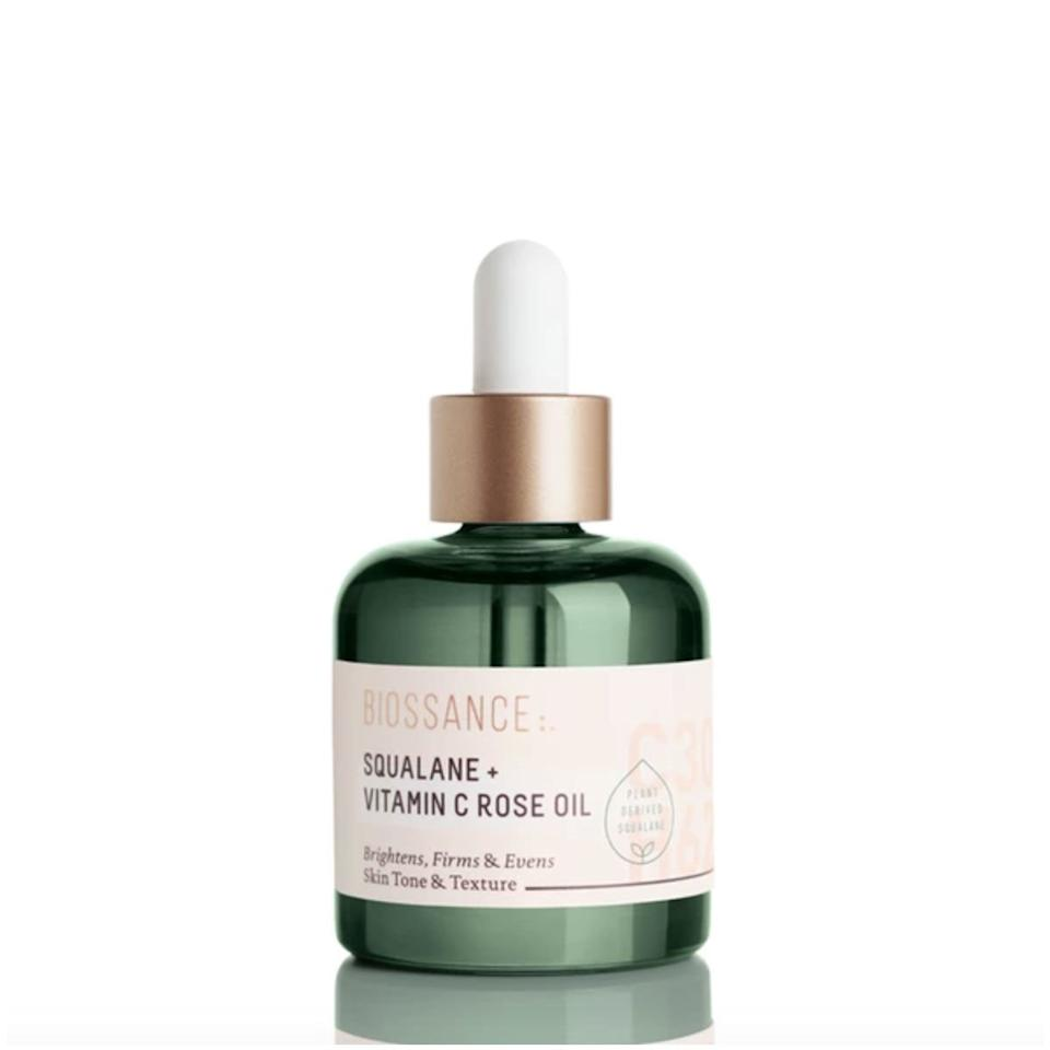 """<p>Vitamin C brightens dark spots and dullness, while Squalane oil adds a dose of weightless moisture. The real clincher though? Rosehip oil. It delivers a major boost of radiance and diminishes the appearance of wrinkles and lines. </p> <p>Buy: $72; <a href=""""https://click.linksynergy.com/deeplink?id=93xLBvPhAeE&mid=2417&murl=https%3A%2F%2Fwww.sephora.com%2Fproduct%2Fsqualane-vitamin-c-rose-oil-P416563&u1=SL%2CRX_1909Anti-agingOils_BiossanceSqualane%252BVitaminCRoseOil%2Cpshannon1271%2C%2CIMA%2C639023%2C201909%2CI"""" target=""""_blank"""">sephora.com</a></p>"""