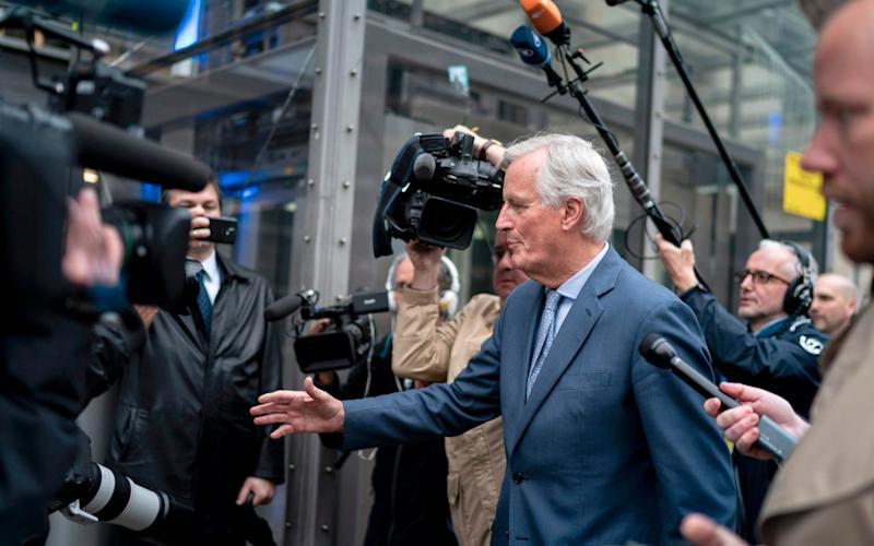 EU negotiator Michel Barnier met Brexit Secretary Stephen Barclay earlier on Friday.  - AFP