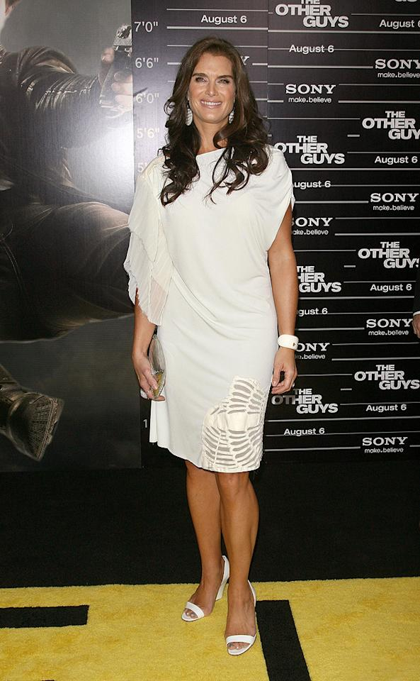 """<a href=""""http://movies.yahoo.com/movie/contributor/1800014914"""">Brooke Shields</a> at the New York City premiere of <a href=""""http://movies.yahoo.com/movie/1810116447/info"""">The Other Guys</a> - 08/02/2010"""