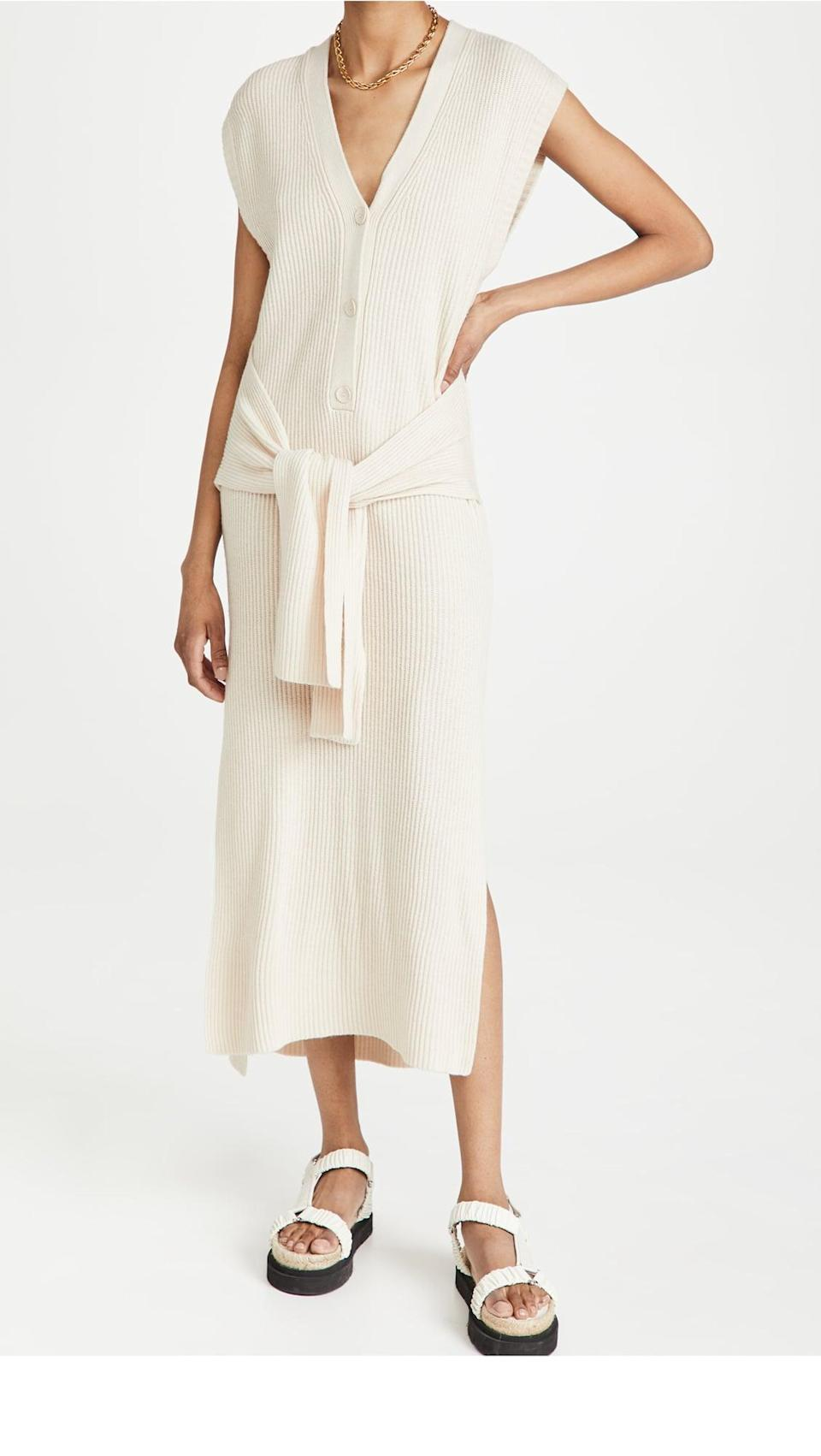 <p>This <span>Jonathan Simkhai Annette Loungewear Henley Dress</span> ($237, originally $395) looks like a comfortable and easygoing outfit for traveling, so you might find yourself wearing it to the airport. Finish the looks with some Teva sandals for maximum comfort.</p>