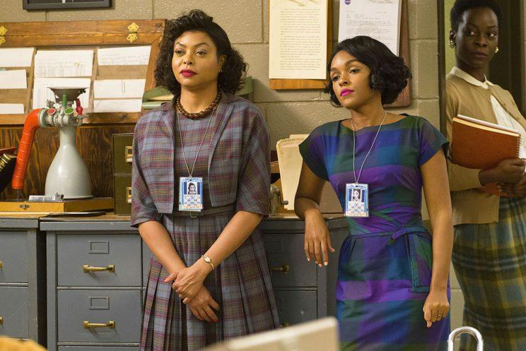 Taraji P. Henson as Katherine G. Johnson and Janelle Monáe as Mary Jackson in