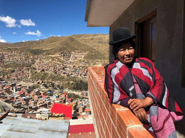 PHOTO: Carmen Rosa, pictured at her home in El Alto, Bolivia, was one of Bolivia's first female wrestlers. (Sarah Hucal/ABC News)