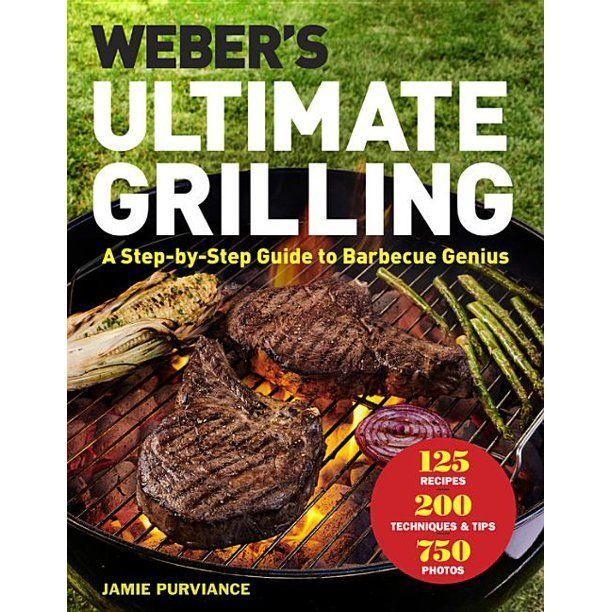 """<p><strong>Jamie Purviance</strong></p><p>Walmart</p><p><strong>$11.93</strong></p><p><a href=""""https://fave.co/36fTHjO"""" rel=""""nofollow noopener"""" target=""""_blank"""" data-ylk=""""slk:BUY NOW"""" class=""""link rapid-noclick-resp"""">BUY NOW</a></p><p>Another book from the masters at Weber, this cookbook is best for those who really want detailed, step-by-step instructions in order to make their grilling the best it can be. The fact that you get some stunning photos and a TON of recipes is just a bonus. </p>"""
