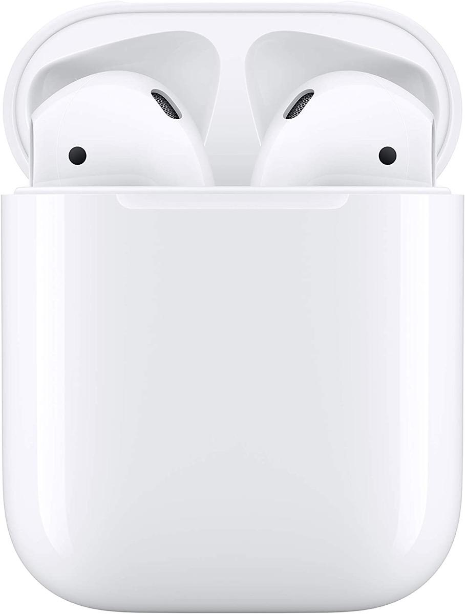 apple airpods in white case