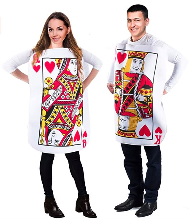King and Queen Playing Card Costume- couples costumes