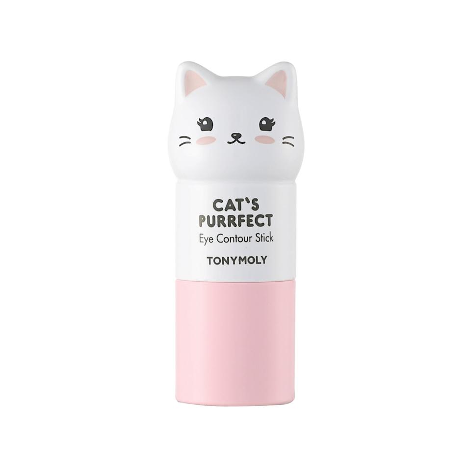 "<p>Brighten your under-eyes with TonyMoly's Cat's Purrfect Eye Contour Stick, which offers a subtle illuminated effect and reduces puffiness with the help of royal jelly and a well-spring of skin-loving extracts like orange peel, honeysuckle, and bergamot fruit.</p> <p>$13 (<a href=""https://shop-links.co/1677194001257356963"" rel=""nofollow"">Shop Now</a>)</p>"