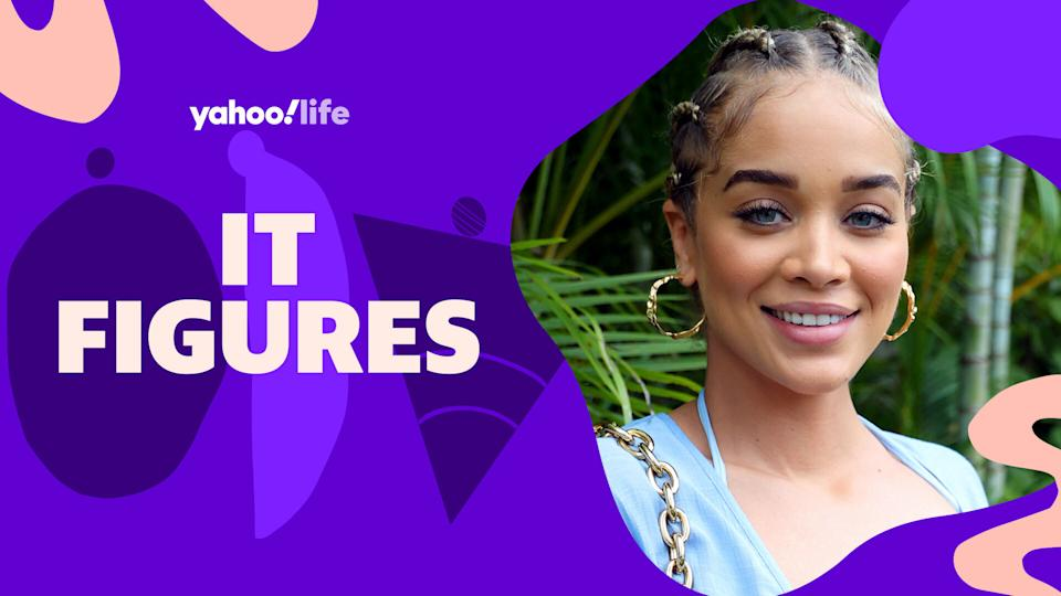 Jasmine Sanders talks body insecurities and being unfiltered. (Photo: Getty Images; designed by Quinn Lemmers)