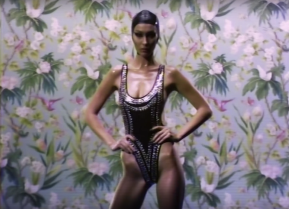Bella Hadid is being body-shamed for her appearance in <em>Love</em> magazine. (Photo: YouTube)