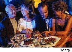 older couples dining out - senior discounts