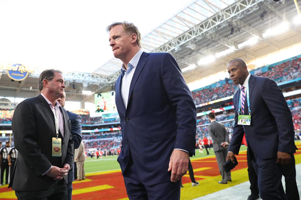 NFL commissioner Roger Goodell said the league expects to have stadiums at full fan capacity this fall. (Photo by Maddie Meyer/Getty Images)
