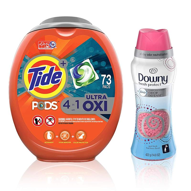 Tide Pods Ultra Oxi Liquid Laundry Detergent Pacs (Photo: Amazon)