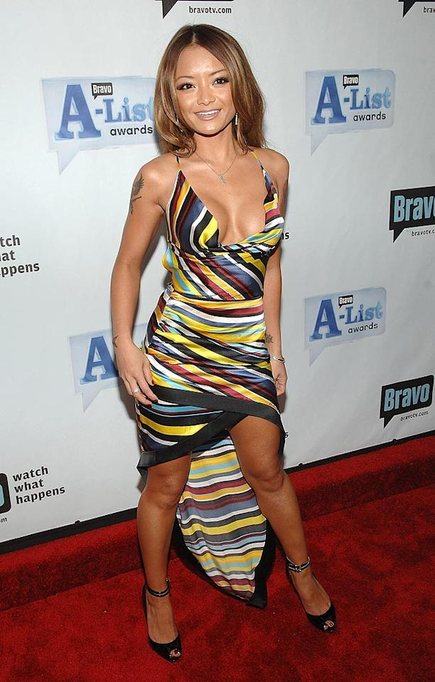 """MTV heartbreaker Tila Tequila flaunts her assets on the red carpet. Jamie McCarthy/<a href=""""http://www.wireimage.com"""" target=""""new"""">WireImage.com</a> - June 4, 2008"""