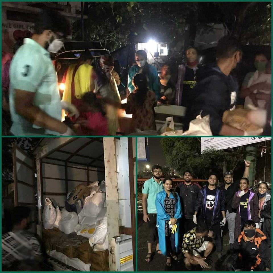 Team Thane conducted a grocery support drive for 200 families at Kalwa