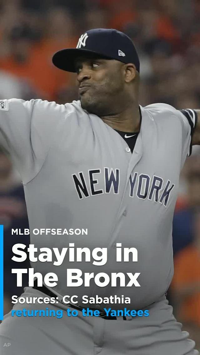 CC Sabathia came to agreement with the New York Yankees on the terms of a one-year, $10-million contract on Saturday.