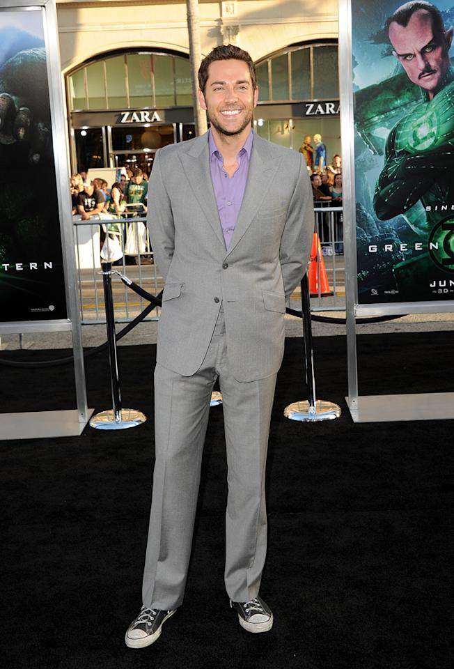 """<a href=""""http://movies.yahoo.com/movie/contributor/1808421073"""">Zachary Levi</a> at the Los Angeles premiere of <a href=""""http://movies.yahoo.com/movie/1810166777/info"""">Green Lantern</a> on June 15, 2011."""