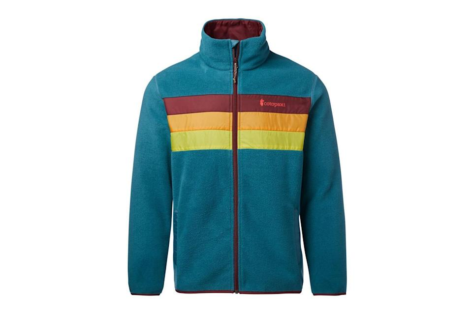 "$100, Cotopaxi. <a href=""https://www.cotopaxi.com/products/teca-fleece-mens?variant=31904779632701"" rel=""nofollow noopener"" target=""_blank"" data-ylk=""slk:Get it now!"" class=""link rapid-noclick-resp"">Get it now!</a>"