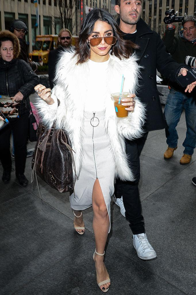 Vanessa Hudgens's street style is on point. (Photo: Getty Images)