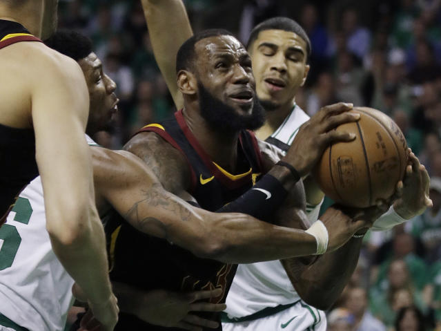 LeBron James knew better than to give the perception that he was making excuses when asked about his health after Wednesday's Game 5 loss. (AP)