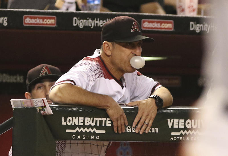 Torey Lovullo had a fantastic first year as the D-backs manager. (AP)