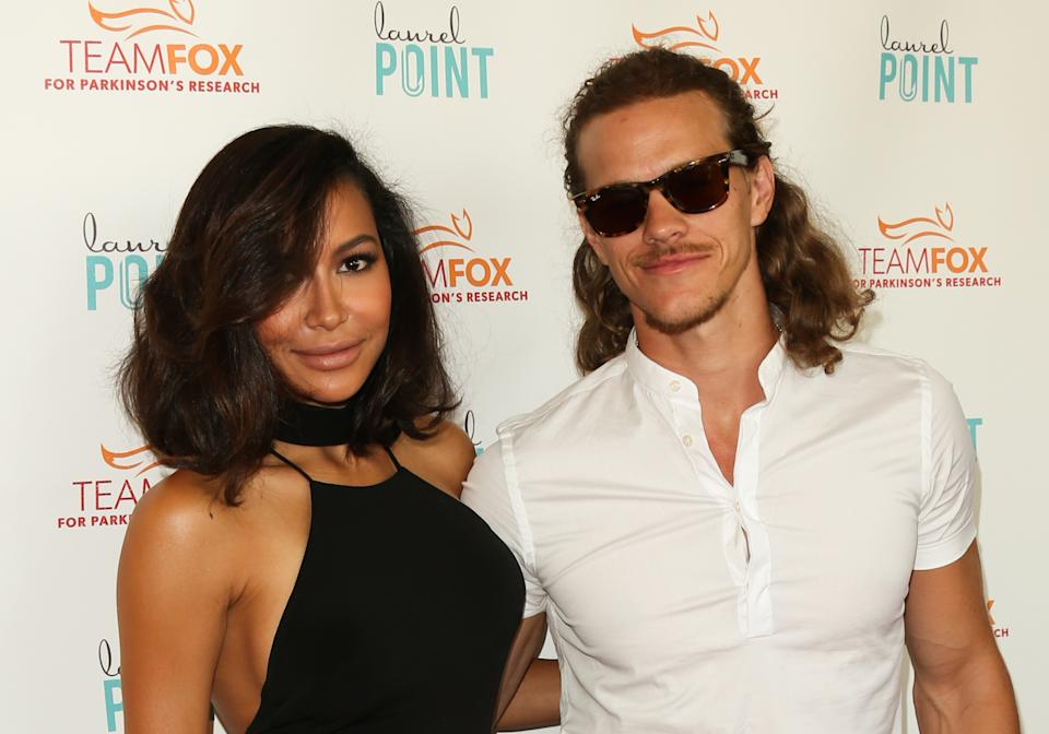 "STUDIO CITY, CA - JULY 27:  Actors Naya Rivera (L) and Ryan Dorsey (R) attend the ""Raising The Bar To End Parkinson's"" at Laurel Point on July 27, 2016 in Studio City, California.  (Photo by Paul Archuleta/FilmMagic)"