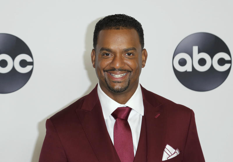 Alfonso Ribeiro arrives at the Disney/ABC 2018 Television Critics Association Summer Press Tour at the Beverly Hilton on Tuesday, Aug. 7, 2018, in Beverly Hills, Calif.. (Photo by Willy Sanjuan/Invision/AP)