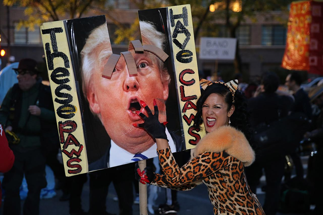Trump wigs and Hillary masks: Political satire was on parade at ...