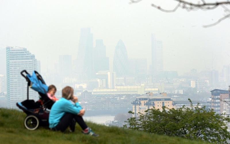 Air pollution is contributing to the deaths of hundreds of people each year - PA