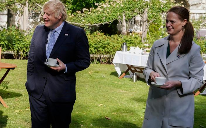 Nurse Jenny McGee at a Downing Street garden party with the Prime Minister - Andrew Parsons/Downing Street/PA Wire