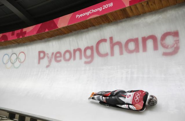 Pyeongchang 2018 Winter Olympics Skeleton - Pyeongchang 2018 Winter Olympics - Women's Finals - Olympic Sliding Centre - Pyeongchang, South Korea - February 17, 2018 - Jane Channell of Canada competes. REUTERS/Arnd Wiegmann
