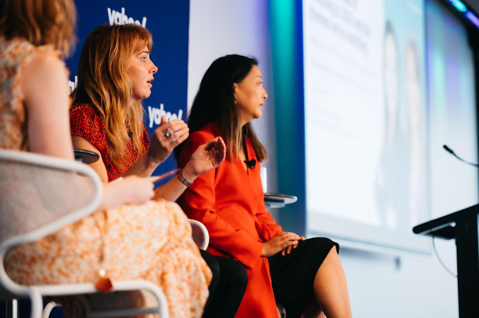 Fidelity Australia managing director Alva Devoy appears at the Women's Money Movement event in March with Julia Lee and Lucy Dean.