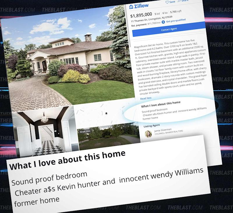 Zillow Real Estate Nj: Wendy Williams Lists Her Former Marital Home, Overzealous