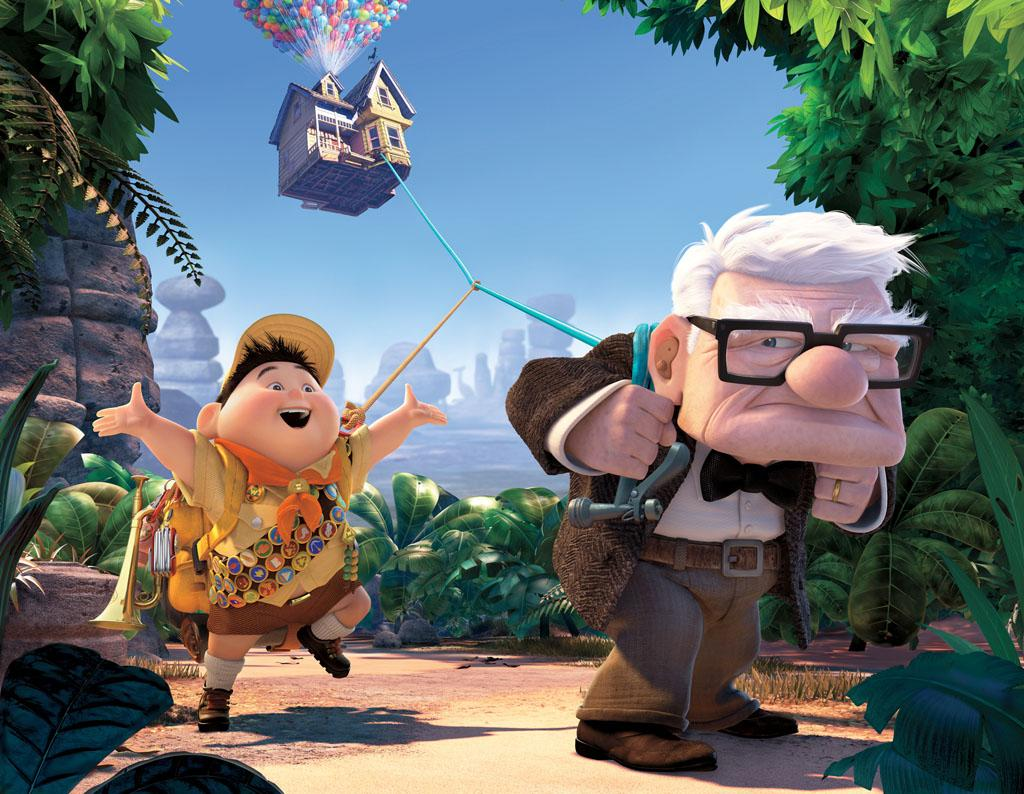 """5/29 - <a href=""""http://movies.yahoo.com/movie/1810014785/info"""">UP</a>   Pixar follows up on their movies about gourmet rats and lonely robots with this flick about a grumpy old man and his balloon-powered floating house."""