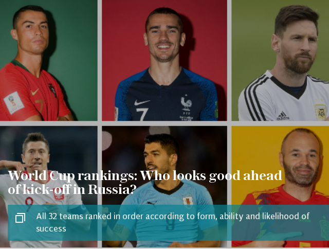 World Cup rankings: Who looks good ahead of kick-off in Russia?