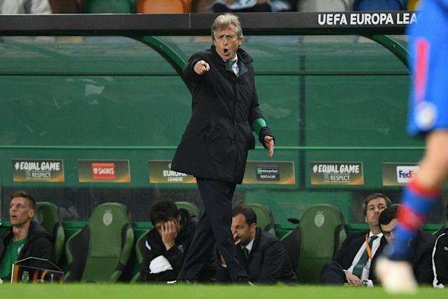 Sporting coach Jorge Jesus reached two Europa League finals in his six years in charge of Benfica.