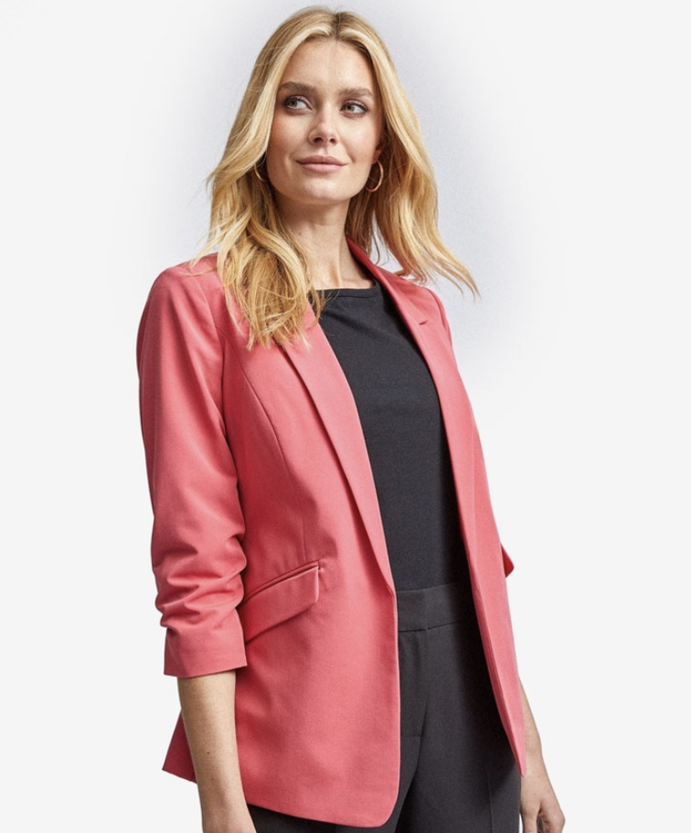 Dorothy Perkins Coral jacket. (PHOTO: Zalora)