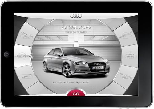 Audi A3 app lets you get inside the car through your iPad