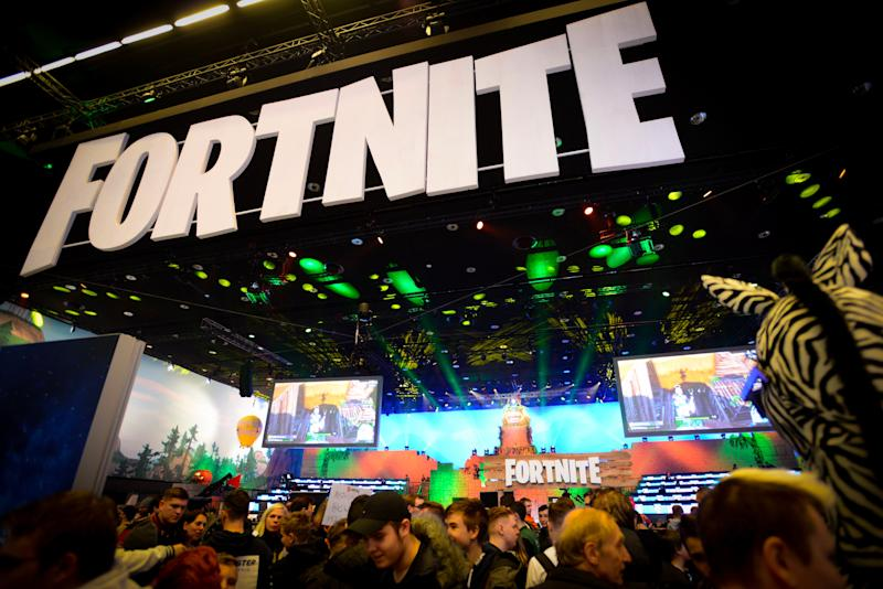 Online game 'Fortnite' enthusiasts attend the ESL Katowice Royale Featuring Fortnite Tournament during the Intel Extreme Masters Katowice 2019 event in Katowice on March 3, 2019. - World's top gamers vie for $500,000 in prizes at Fortnite International video game tournament. (Photo by BARTOSZ SIEDLIK / AFP) (Photo credit should read BARTOSZ SIEDLIK/AFP/Getty Images)