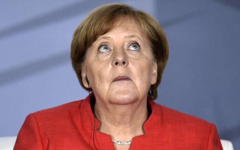 Angela Merkel's Christian Democratic Union party only polled 33pc in yesterday's election - AFP