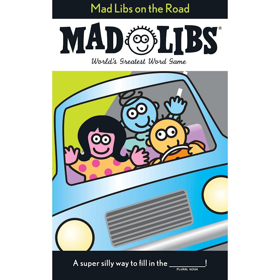 <p>If the long car ride gets a little boring, try playing a game like this <span>Mad Libs on the Road</span> ($5).</p>