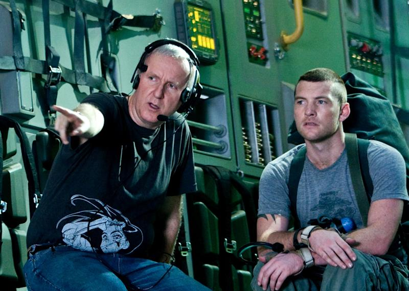 James Cameron directing Sam Worthington on the set of 'Avatar' (credit: 20th Century Fox)